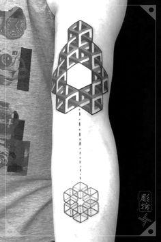 Blackwork Pattern Geometric Tattoo