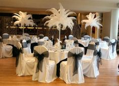 Black and White theme with feathers