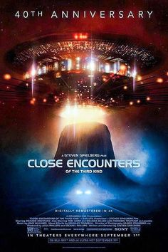 Sony Pictures will celebrate the anniversary of legendary director Steven Spielberg's epic science fiction adventure CLOSE ENCOUNTERS OF THE THIRD KIND with a series of special events. Cinema Tv, Cinema Posters, Cinema Movies, Movie Tv, Movie Posters, Horror Posters, Movie Theater, Movies Showing, Movies And Tv Shows