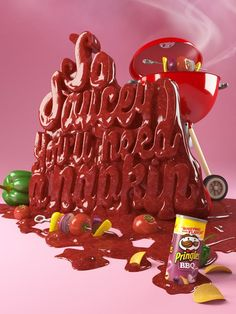 Creative 3D Typography. Some amazing examples of 3D typography by designer and illustrator Chris LaBrooy from UK. 3D Typography by Chris LaBrooy Pringles 3