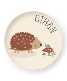 Loving this Natural Hedgehog Personalized Plate on Color Me Mine, Kids Plates, Personalized Plates, Purple Baby, Decorative Plates, Fun, Natural, Home Decor, Hedgehogs