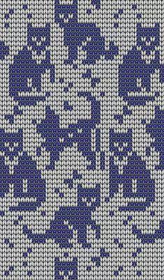 New knitting charts cat kitty 50 Ideas Fair Isle Knitting Patterns, Knitting Charts, Knitting Stitches, Knitting Designs, Crochet Cross, Crochet Chart, Crochet Patterns, Fair Isles, Tapestry Crochet