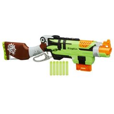 Nerf Gun Rifle - Nerf Zombie Strike SlingFire Blaster Rifle Gun with 25  Dart Drum and 31 Darts Exclusive Limited Edition with Nerf Zombie Strike  Dart Refill ...