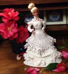 Barbie Hand Made Crochet Wedding Dress Vintage 1975 Mattel Blond #Mattel