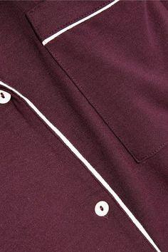 Eberjey - Gisele Stretch-modal Jersey Pajama Set - Burgundy -