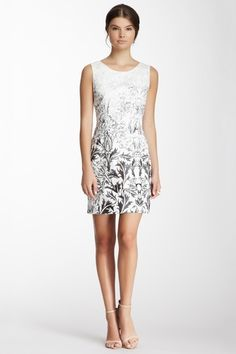 Ombre Damask Print Sheath Dress by CLUNY By Designer Cynthia Steffe on @HauteLook