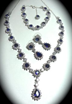 Bridal Jewelry  Something Blue  Blue Sapphire by QueenMeJewelryLLC, $249.99
