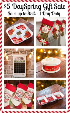 DaySpring $5 Christmas Sale - crazy Christmas gift sale with products marked up to 85% off. Going on November 19 only. A must-shop for gifts