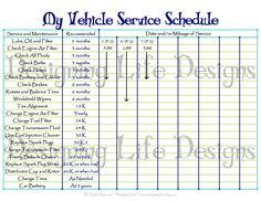 Vehicle Maintenance Checklist Template | Car Maintenance Tips ...