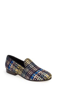 9aaef79cf2a62 CB Made in Italy Tweed Smoking Loafer (Women) available at #Nordstrom  Loafers For
