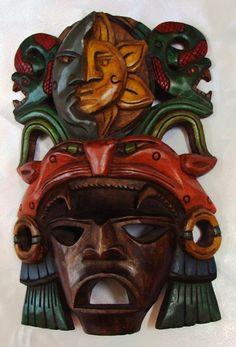 Mayan Gods Masks by yucatanhandcraftscom on Etsy, $58.00