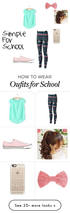 """""""Simple For School"""" by jayjay2003 on Polyvore featuring Converse, Casetify, Missoni and Pin Show"""
