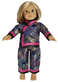 Mandarin Asian Top and Pant Set for 18 Inch Dolls Like Am...