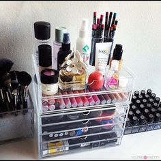 Cosmetics Channel: Cosmetic storage girl makeup storage organize organization cosmetic make-up organizing organization ideas being organized