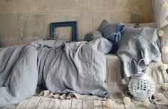 Pre-order only: Light grey stonewashed luxurious linen duvet/quilt cover by House of Baltic Linen