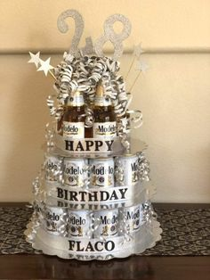 Super Birthday Presents For Brother Diy Beer Cakes Ideas Birthday Present For Brother, Birthday Gifts For Boyfriend Diy, Good Birthday Presents, Birthday Gift For Him, 21st Birthday Ideas For Guys, Beer Birthday Party, 21st Birthday Cakes, Birthday Diy, Beer Can Cakes