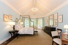 Garyn Inman of Glave and Homes designed the master bedroom. There are twenty-four designers in this one magnificent 2014 RSOL Designer House open in Hallsley through October 13, 2014