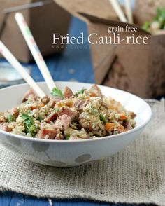 Paleo Classic Cauli- Fried Rice. Easy, Flexible and delish. Great way to get your kids to eat veggies. No one will know it's grain/rice free!