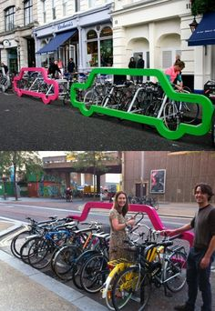 1 Car space = 10 bicycles (London, UK)