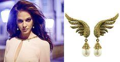 Anja: earrings SCALLINI Crystal Wings Gold