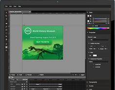Create engaging, interactive HTML5-based designs and motion graphics that can run on any device.