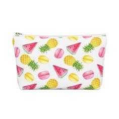 Watermelon & Pineapple Make up Bag Summer Bags, Kids Gifts, Travel Bag, Teacher Gifts, Bag Accessories, Watermelon, Pineapple, Coin Purse, Pouch