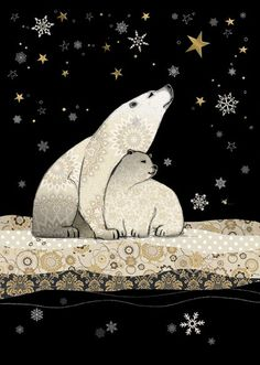Polar Bears - Pack of 5 Christmas / Winter Solstice Cards