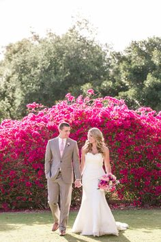 California Garden Wedding Layered with Pink: http://www.stylemepretty.com/2014/08/27/california-garden-wedding-layered-with-pink/ | Photography: We Heart Photography - http://www.weheartphotography.com/