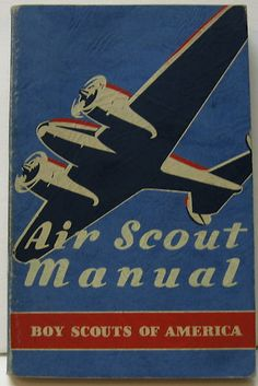 Air Scout Manual vintage Boy Scouts of America