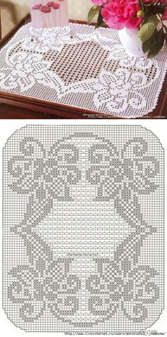 Crochet Table Runner Diagram Charts 20 Ideas For 2019 Crochet Dollies, Crochet Doily Patterns, Crochet Art, Crochet Squares, Crochet Home, Thread Crochet, Crochet Motif, Crochet Designs, Crochet Table Runner