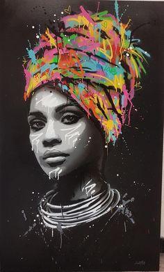 Seaty Artwork African Woman Graffiti Canvas Art Print Pop Art Seaty Artwork African Woman Graffiti Canvas Art Print Pop Art Petra B. pbolender Faces of this world Graffiti Alley Print […] Graffiti Canvas Art, Graffiti Painting, Street Art Graffiti, Canvas Art Prints, Wall Prints, Painting Canvas, Black Painting, Graffiti Artwork, Pop Art Prints