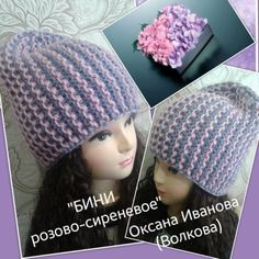 двуцветное вязание спицами_шапка бини