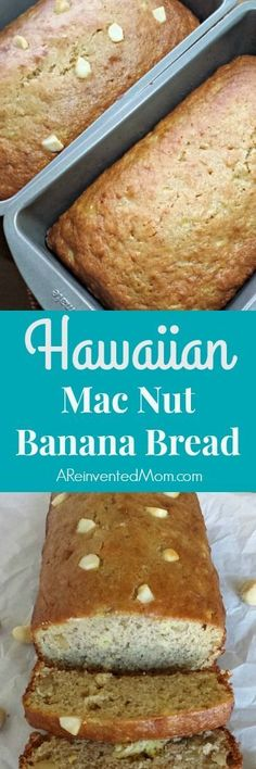 Hawaiian Mac Nut Banana Bread Pin - A Reinvented Mom