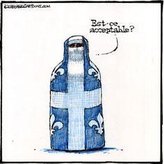 #Quebec Charter of Values crushing progressive politics. Cartoon by Bob Krieger   #PolQC #Cdnpoli