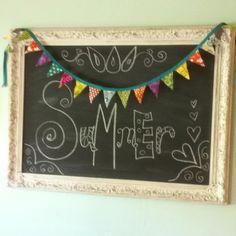 Chalkboard frame!