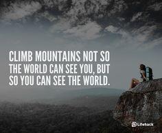 climb mountians
