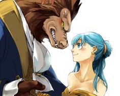 Vegeta and Bulma, Beauty and the Beast by さんなすび*DBが熱い。あと筋肉