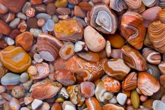 Agates can be found on Agate Beach in Oregon