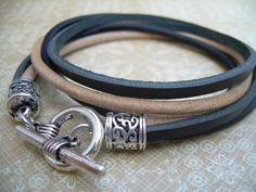 Leather  Bracelet Double Wrap Mens Bracelet Mens by MalibuCreek, $18.99