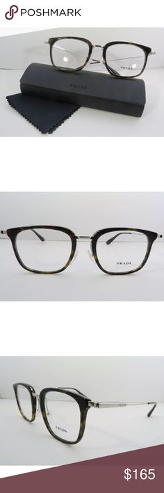 946bee603c8 Prada Eyeglasses Tortoise Frame 11U New with clear lens Comes with Prada  case and cloth Authentic