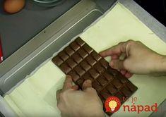 Na vytvorenie dokonalého dezertu vám postačí, ak doma nájdete tabuľku čokolády, lístkové cesto, jedno vajíčko aniečo na posypanie – ideálne oriešky. Tento skvelý nápad sa určite bude páčiť každému, kto miluje čokoládové dezerty srýchlou anenáročnou