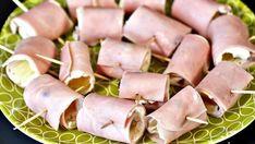 PLNĚNÉ ŠUNKOVÉ ROLKY Salty Snacks, Lchf, Hot Dogs, Sausage, Food And Drink, Meat, Ethnic Recipes, Parenting, Fitness