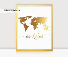 World map poster real gold foil map print gold foil world atlas world map poster real gold foil map print gold foil world atlas geography art print gold map poster gold art gold wall decor pinterest gold wall gumiabroncs Gallery