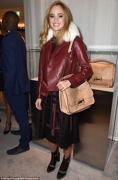 Winter wonder: Suki Waterhouse, 24, put on a trademark stylish display on…