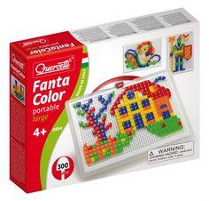 #Quercetti #educationaltoys Chiodini | Fantacolor Portable quadrati