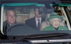 Prince Philip, pictured driving with his wife the Queen, would give up driving if his wife...