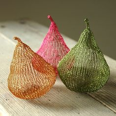 crotchet wire pears from etsy seller Yoola