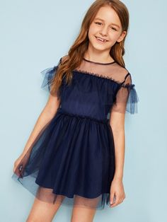 depende p Girls Fashion Clothes, Kids Outfits Girls, Girl Fashion, Girl Outfits, Cute Outfits, Fashion Outfits, Cute Girl Dresses, Stylish Dresses, Tee Dress
