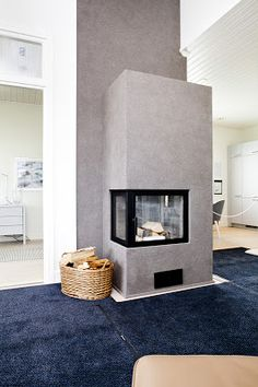 Tikkurila Tunto Kivi struktur. Home Fireplace, Fireplaces, Paint Companies, Interior Decorating, Interior Design, Living Room Inspiration, Custom Homes, Townhouse, My House