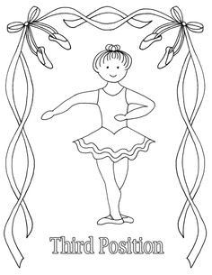 Reproducible Ballet Coloring Pages - third position Baby Ballet, Ballet Kids, Ballet Class, Ballet Dance, Teach Dance, Dance Camp, Kids Dance Classes, Dance Lessons, Dance Coloring Pages